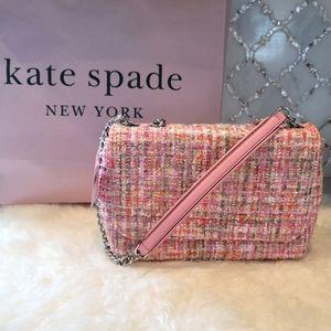 NWT Kate Spade pink tweed multi
